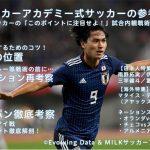 サッカー番組開始!!その名も「MILKサッカーアカデミー東京校」是非チェック!